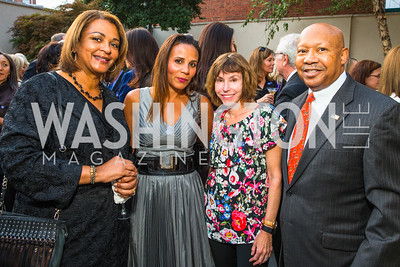 Marcia Jackson, Michelle Cross Fenty, Meryl Chertof, Alphonso Jackson. Photo by Alfredo Flores. Philip Trager New York in the 1970s Book Signing. Phillips Collection. September 15, 2016