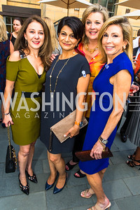 Farinaz Akhavan, Shamin Jawad, Ann Kenkel, Katherine Wood. Photo by Alfredo Flores. Philip Trager New York in the 1970s Book Signing. Phillips Collection. September 15, 2016