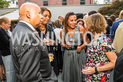 Alphonso Jackson, Marcia Jackson, Michelle Cross Fenty, Meryl Chertof. Photo by Alfredo Flores. Philip Trager New York in the 1970s Book Signing. Phillips Collection. September 15, 2016