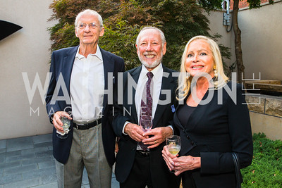 Charles Wenner, Richard Jacobsen, Deborah Sigmund. Photo by Alfredo Flores. Philip Trager New York in the 1970s Book Signing. Phillips Collection. September 15, 2016
