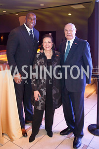 Magic Johnson, Alma Powell, Colin Powell