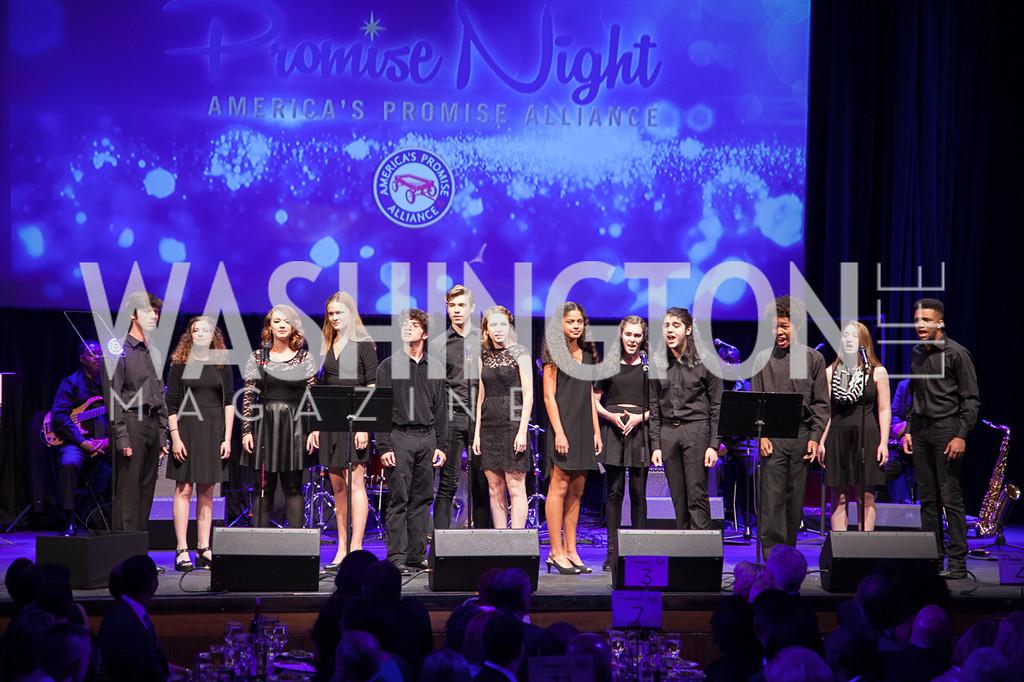 Choir sining at Promise Night Awards