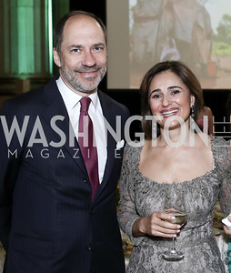 Marcus Brauchli, Darya Nasr. Photo by Tony Powell. RI's 37th Annual Dinner Mellon Auditorium. April 26, 2016