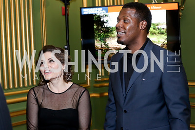 Andrea Pizziconi, Keyon Harrold. Photo by Tony Powell. RI's 37th Annual Dinner Mellon Auditorium. April 26, 2016
