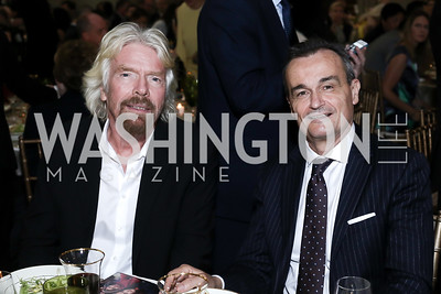 Sir Richard Branson, France Amb. Gerard Araud. Photo by Tony Powell. RI's 37th Annual Dinner Mellon Auditorium. April 26, 2016