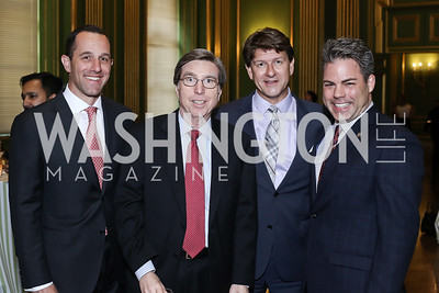 David Grimaldi, Amb. Gordon Giffin, Lyndon Boozer, Mike Maceroni. Photo by Tony Powell. RI's 37th Annual Dinner Mellon Auditorium. April 26, 2016