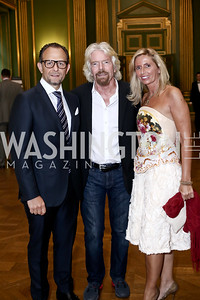 Fabio Trabocchi, Richard Branson, Maria Trabocchi. Photo by Tony Powell. RI's 37th Annual Dinner Mellon Auditorium. April 26, 2016