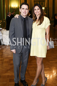 Matt Dillon, Roberta Mastromichele. Photo by Tony Powell. RI's 37th Annual Dinner Mellon Auditorium. April 26, 2016