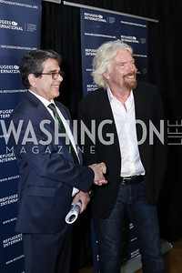 RI President Michael Gabaudan, Sir Richard Branson. Photo by Tony Powell. RI's 37th Annual Dinner Mellon Auditorium. April 26, 2016