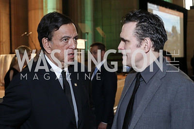 Former Governor of New Mexico Bill Richardson, Matt Dillon. Photo by Tony Powell. RI's 37th Annual Dinner Mellon Auditorium. April 26, 2016