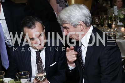 France Amb. Gerard Araud, Sam Waterston. Photo by Tony Powell. RI's 37th Annual Dinner Mellon Auditorium. April 26, 2016