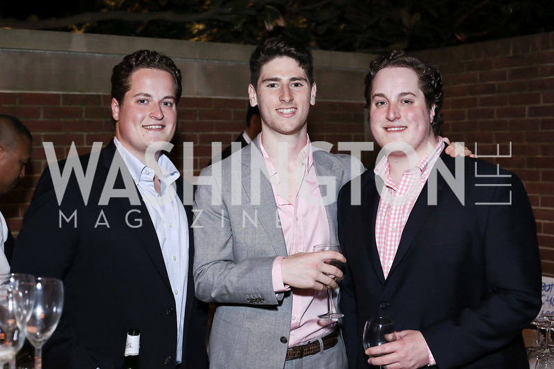 Maxwell Schroder, Robert Goldburg, Alexander Schroder. Photo by Tony Powell. Reopening of the Residence of Norway. April 21, 2016