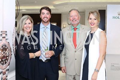 Sherrie, Harrison, Sid, and Sara Beckstead. Photo by Tony Powell. 2016 Rolex Baselworld Event. L&B. June 21, 2016
