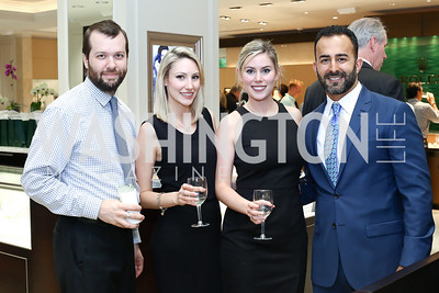 Brenden McDougal, Lindsey Witchie, Lauren Witchie, Ali Kaker. Photo by Tony Powell. 2016 Rolex Baselworld Event. L&B. June 21, 2016