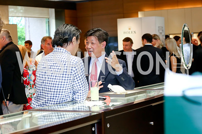 Tap Sriburi, Larry Eng. Photo by Tony Powell. 2016 Rolex Baselworld Event. L&B. June 21, 2016