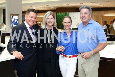 Bruce Schauer, Sara Beckstead, Wendy Smith, Michael Smith. Photo by Tony Powell. 2016 Rolex Baselworld Event. L&B. June 21, 2016