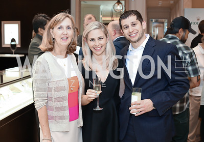 Denise Rasor, Erica Strudler, Isaac Snyder. Photo by Tony Powell. 2016 Rolex Baselworld Event. L&B. June 21, 2016