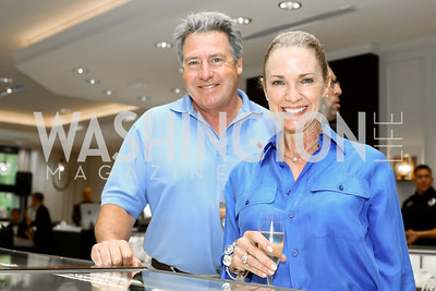 Michael and Wendy Smith. Photo by Tony Powell. 2016 Rolex Baselworld Event. L&B. June 21, 2016