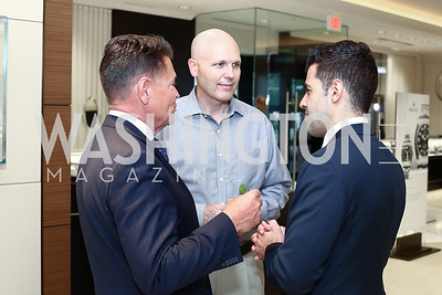 Bruce Schauer, David Edwards, Ron Tahmasebi. Photo by Tony Powell. 2016 Rolex Baselworld Event. L&B. June 21, 2016