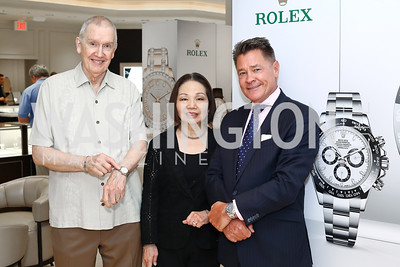 Edward Spurlock and Shirley Fujimoto, Bruce Schauer. Photo by Tony Powell. 2016 Rolex Baselworld Event. L&B. June 21, 2016
