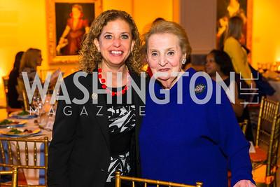 Debbie Wasserman Schultz, Madeleine Albright. Photo by Alfredo Flores. Running Start's 10th Annual Women to Watch. National Museum of Women in the Arts. March 15, 2016
