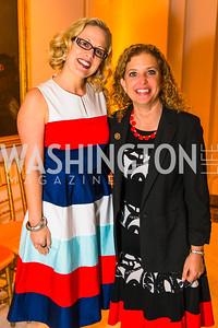 Congresswoman Kyrsten Sinema, Congresswoman Debbie Wasserman Schultz. Photo by Alfredo Flores. Running Start's 10th Annual Women to Watch. National Museum of Women in the Arts. March 15, 2016