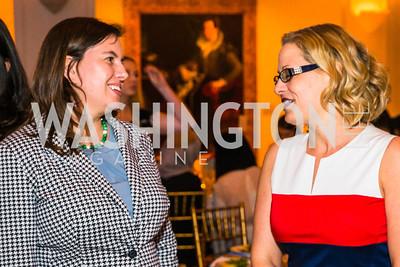 Jana Denning, Congresswoman Kyrsten Sinema. Photo by Alfredo Flores. Running Start's 10th Annual Women to Watch. National Museum of Women in the Arts. March 15, 2016
