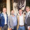 Will Hansen, Antonio Mayorga, Kyle Meeks, Jeff Wilson, S & R Studio Art Foundation VIP Preview, Halcyon House, December 7, 2016. Photo by Ben Droz