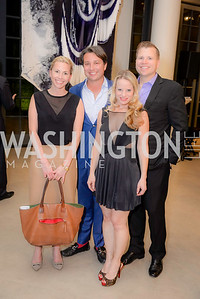 Jon Kling, Laura Gail Smith, Denzil Martin, Michael Savage, S & R Studio Art Foundation VIP Preview, Halcyon House, December 7, 2016. Photo by Ben Droz