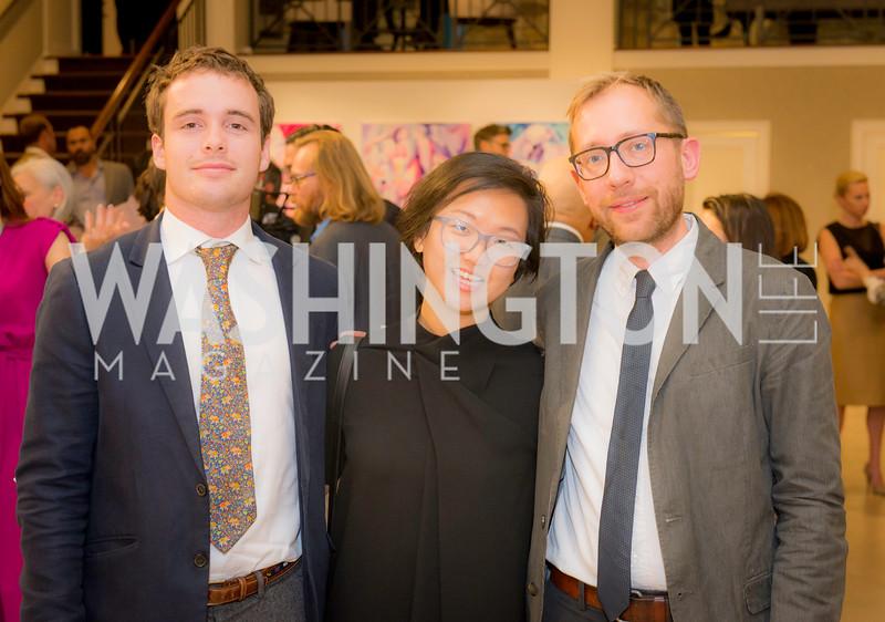 Chris Dowd, Nicole Dowd (no relation), Eric Moe,  S & R Studio Art Foundation VIP Preview, Halcyon House, December 7, 2016. Photo by Ben Droz