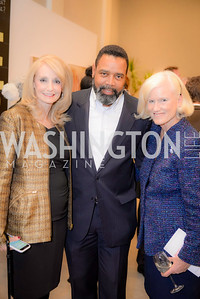 Rhona Friedman, Marvin Bowser, Caroline Croft, S & R Studio Art Foundation VIP Preview, Halcyon House, December 7, 2016. Photo by Ben Droz