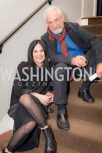 Travis Price, Deborah Kalkstein, S & R Studio Art Foundation VIP Preview, Halcyon House, December 7, 2016. Photo by Ben Droz