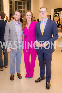 Mike Malloy, Kate Goodall, Evan Beard, S & R Studio Art Foundation VIP Preview, Halcyon House, December 7, 2016. Photo by Ben Droz