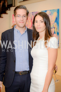 Stephen Crouch, Ikram Lakhdhar, S & R Studio Art Foundation VIP Preview, Halcyon House, December 7, 2016. Photo by Ben Droz