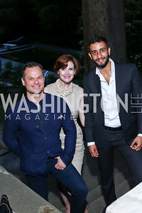 James Alefantis, Stephanie Green, Salman Al Jalahma. Photo by Tony Powell. Septime's Farewell. Residence of France. June 6, 2016