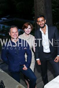 James Alefantis, Stephanie Green, Salman Al Jalahma. Photo by Tony Powell. Septime's Farewell. Residence of France. June 6, 2016