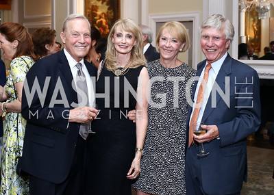 Bob Heggestad, Rhona Wolfe Friedman, Dibbie Conahan, Jim Oldham. Photo by Tony Powell. Septime's Farewell. Residence of France. June 6, 2016