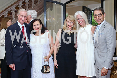 Jack Evans, Sylvia de Leon, Rhona Wolfe Friedman, Susan Harreld, Arthur Espinoza. Photo by Tony Powell. Septime's Farewell. Residence of France. June 6, 2016