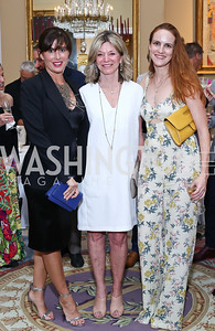 Michelle Freeman, Kay Kendall, Kate Goodall. Photo by Tony Powell. Septime's Farewell. Residence of France. June 6, 2016