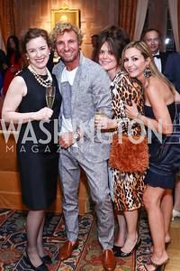 Caroline Mousset, Pascal Blondeau, Izette Folger, Pilar O'Leary. Photo by Tony Powell. Septime's Farewell. Residence of France. June 6, 2016