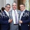 Vice President Joe Biden Residence Manager and Social Secretary Carlos Elizondo, Mark Dumas, Peter Pappas. Photo by Tony Powell. Septime's Farewell. Residence of France. June 6, 2016