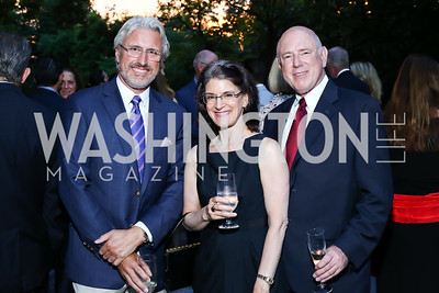 Paul Sliwka, Sarah Kaufman, Geoffrey Smith. Photo by Tony Powell. Septime's Farewell. Residence of France. June 6, 2016