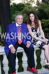 Tony Podesta, Maddy Beckwith. Photo by Tony Powell. Septime's Farewell. Residence of France. June 6, 2016