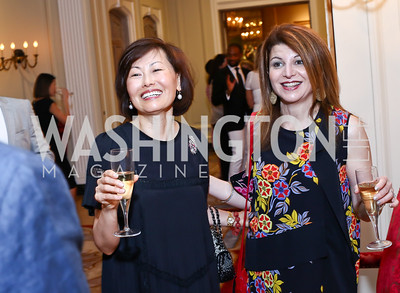Janice Kim, Maral Skelsey. Photo by Tony Powell. Septime's Farewell. Residence of France. June 6, 2016