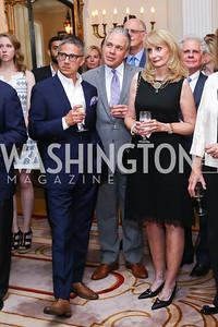 Vice President Joe Biden Residence Manager and Social Secretary Carlos Elizondo, Mark Dumas, Rhona Wolfe Friedman and Donald Friedman. Photo by Tony Powell. Septime's Farewell. Residence of France. June 6, 2016