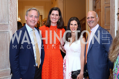 Ted Stettinius, Sarah Stettinius, Veronica Valencia, Dave Dorros. Photo by Tony Powell. Septime's Farewell. Residence of France. June 6, 2016