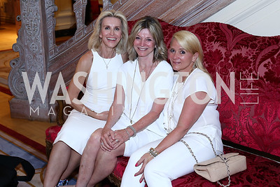 Mary Haft, Kay Kendall, Lyn McFadden. Photo by Tony Powell. Septime's Farewell. Residence of France. June 6, 2016