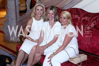 Mary Haft, Kay Kendall, Lyn McFadden. Photo by Tony Powell. Septime's Farewell. Residence of France. June 6, 2016