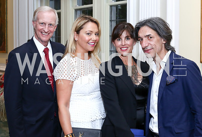 Jack Evans, Andrea Rinaldi, Michelle Freeman, Septime Webre. Photo by Tony Powell. Septime's Farewell. Residence of France. June 6, 2016