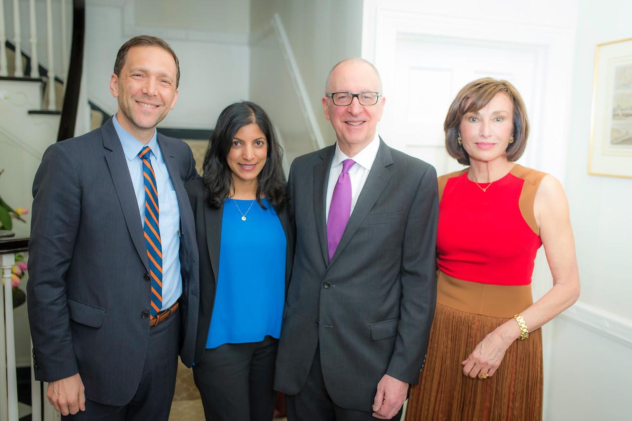 Peter Selfridges, Mrs. Parita Shah, Dr. David Skorton,